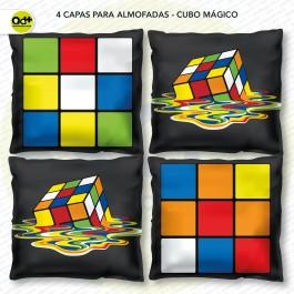 4 Capas para almofadas - Cubo Mágico