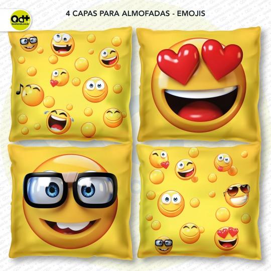 4 Capas para almofadas - Emojis