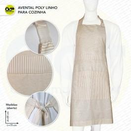 Avental Poly Linho para cozinha