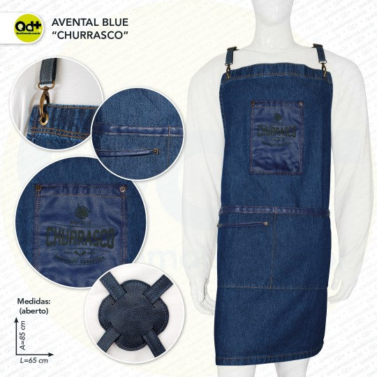 Avental Blue Churrasco