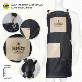 Avental para Churrasco com bolso bege