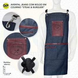 Avental Jeans Steak & Burguer