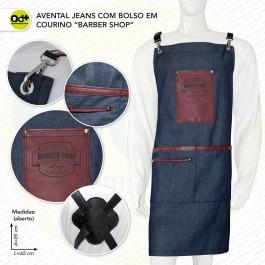 Avental Jeans Barber Shop