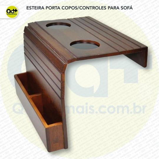 Esteira porta copos/controles para sofá