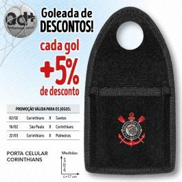 Porta celular Corinthians